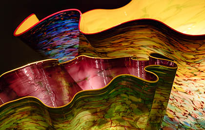 Dale Chihuly<br />Macchia Forest (detail)<br />2012<br />Seattle, Chihuly Garden and Glass<br />Photo Terry Rishel<br>